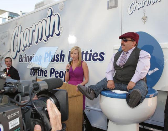 Chelsea Handler's luxury port-a-potties