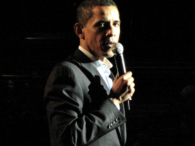 Barack Obama at the Gibson Theatre at Universal Studios