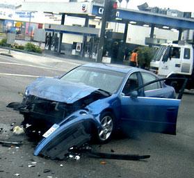 Car crash in Los Angeles