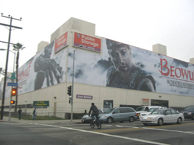 the not famous beowolf ad on highland near santa monica blvd