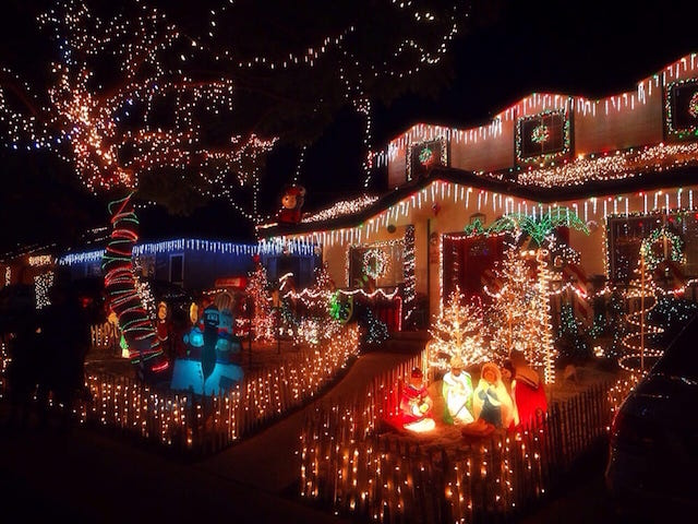 candy_cane_lane.jpg. One of the many houses decorated on Candy Cane Lane ... - Candy Cane Lane Residents Consider Ending 60-Year Tradition Over