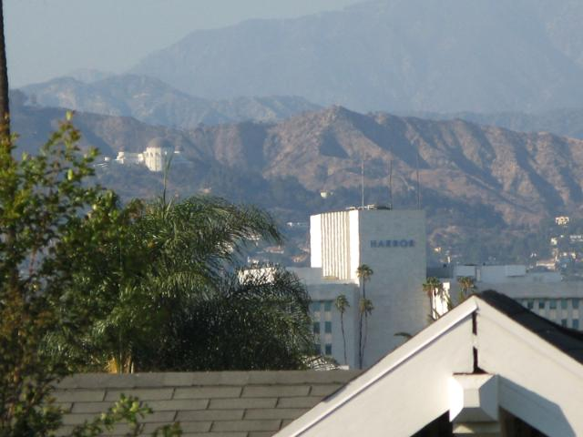 Office building and Griffith Observatory