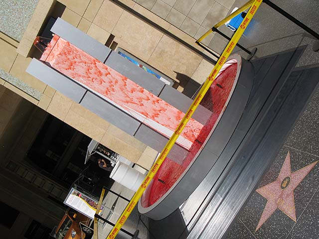Dexter Fountain of Blood on Hollywood and Highland