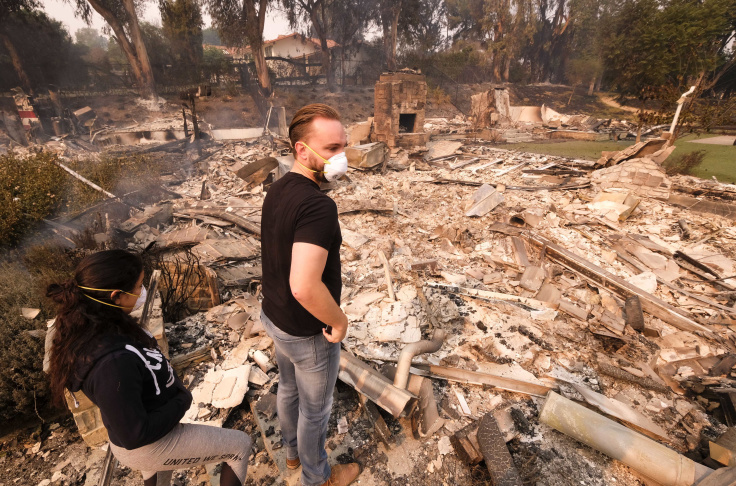 25 dead, homes destroyed in California wildfires