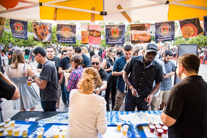 Oktoberfest DTLA Brings Bavarian Fun To Pershing Square