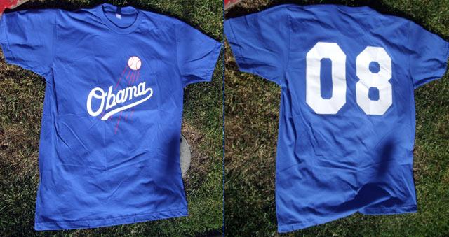 Obama Dodgers Shirt 08
