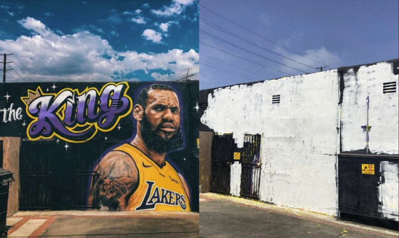 The Artist Behind The LeBron James Mural In Venice Painted Over It Because We Can't Have Nice Things