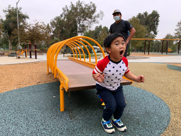 A Postcard From One of LA County's Newly Reopened Playgrounds