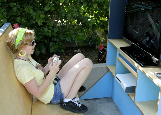 A Girl Playing Tony Hawk