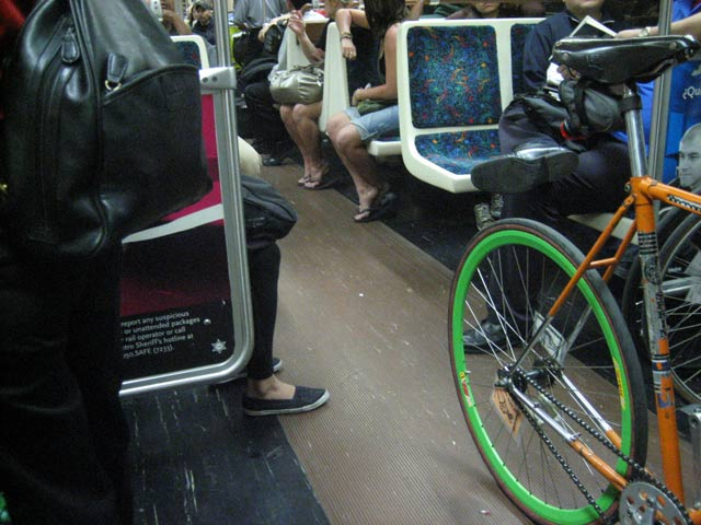 A bicycle on the subway