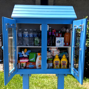 This Big Bright Blue Birdhouse In Burbank Isn't A Free Library, It's A Free Food Pantry -- And There Are More