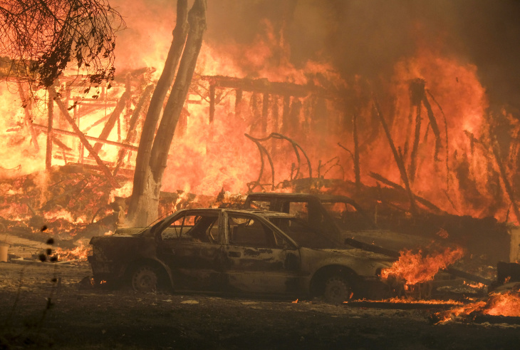 Woolsey Fire Burning Out Of Control