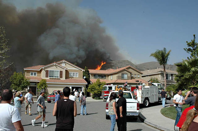 Foothill Ranch, Orange County, CA. Santiago Canyon Fire