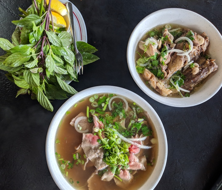 614ee4406 Bowls of pho at Pho 79, a Garden Grove restaurant that received a 2019  James Beard America's Classics Award. (Leo Duran/LAist)