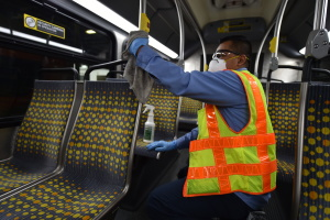 Deep Cleaning, Disinfectant And 'Death Stares': LA Public Transit In The Age Of Coronavirus