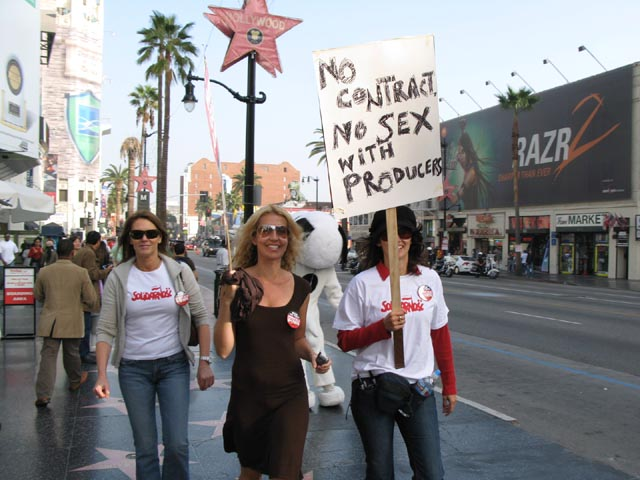 WGA March on Hollywood Blvd