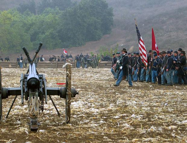 During Civil War reenactment at Tierra Rejada Ranch on 11/11/07.