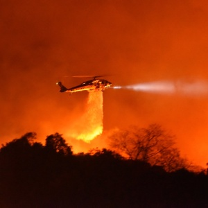 Wind-Driven Cave Fire Explodes In Santa Barbara