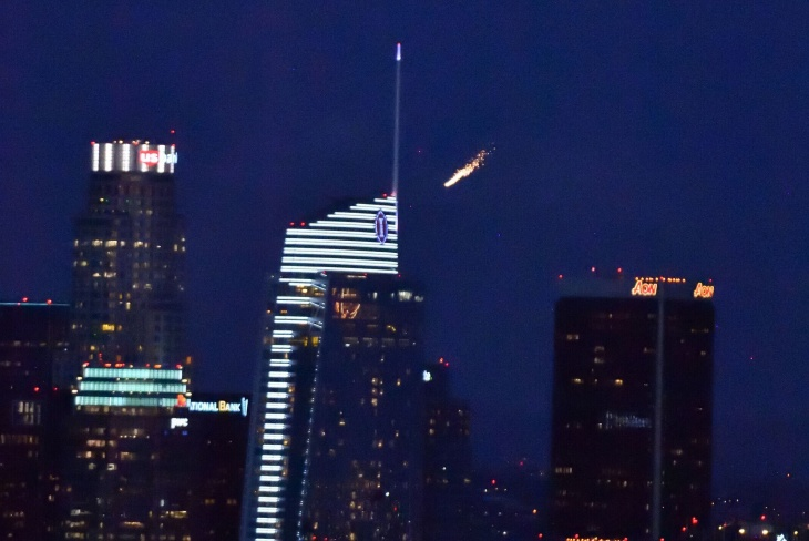 That Flaming 'Meteor' Over Downtown LA Was Just A Publicity Stunt