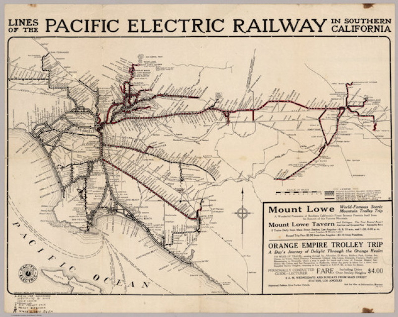 pacific electric railway map Video Here S What It Was Like To Ride On L A S Original Rail pacific electric railway map