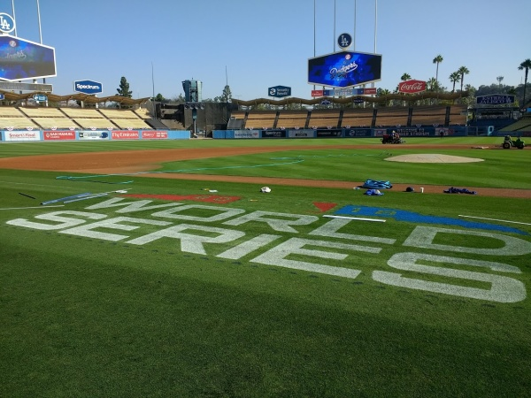 We Watched The Paint Dry At Dodger Stadium As The Grounds Crew Prepared For World Series Game 3