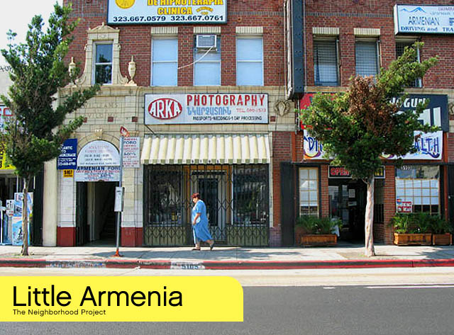 Little Armenia in East Hollywood, California