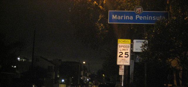Do you know where Marina Peninsula is?