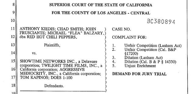 californication lawsuit