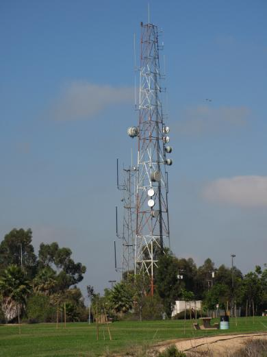 one of several big, honkin' radio towers