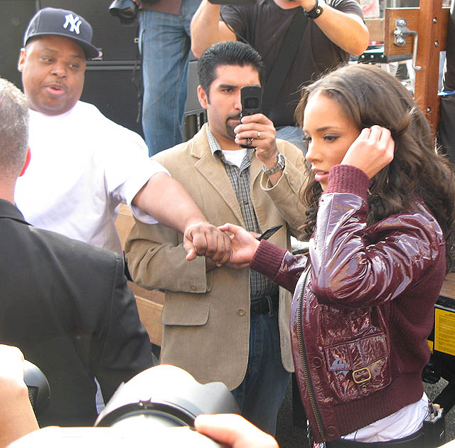 Alicia Keys at the WGA Writers Strike March and Rally in Hollywood