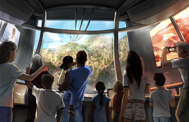Hollywood Skyway concept art