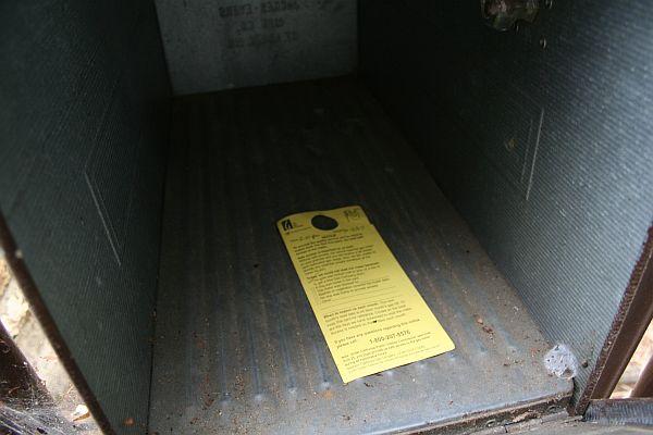 gas meter notice
