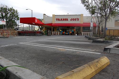Empty Trader Joe's parking lot