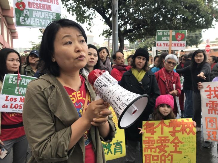 Striking Mandarin-Language Teachers Held A Rumor Control Rally In Chinatown